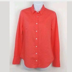 J Crew Perfect Shirt Career Blouse Size 0